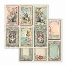 Stamperia - Alice Cards 12x12 Inch - Paper Sheet
